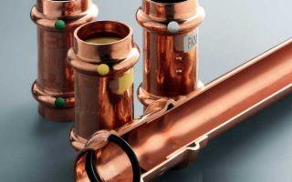 Медные трубы и фитинги для отопления