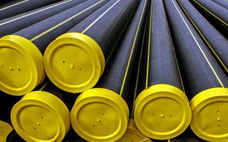 Трубы из полиэтилена для газопроводов