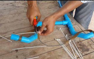 Как сделать блочный лук из пвх трубы самостоятельно