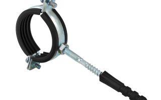 Хомуты для крепления труб – металлические (стальные) и их характеристики
