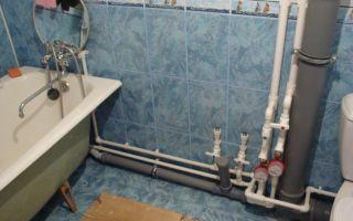 Прокладка труб в ванной и туалете своими руками