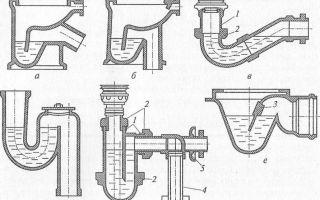 Гидрозатвор для канализации: принцип работы, виды и установка своими руками
