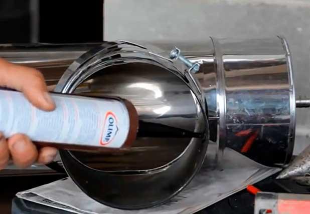 Герметик для дымохода из нержавеющей